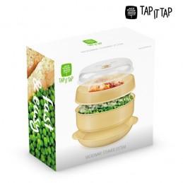 Embalagem para cozinhar a vapor no microondas, Imagine cozinhar mais rapidamente, mantendo as vitaminas, sais minerais e o melhor, o sabor da comida