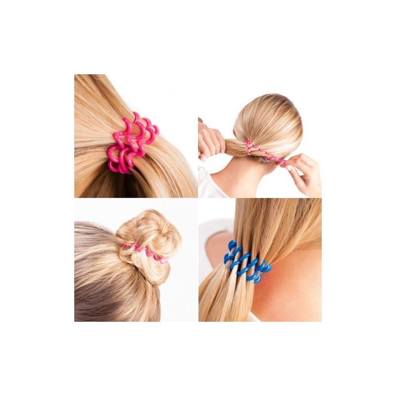 Elástico bobble é um elástico para todos os tipos de cabelo, que não marca, não repuxa, não danifica e não escorrega.
