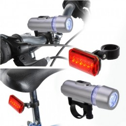 Kit de Lâmpadas LED para bicicleta - farol e stop