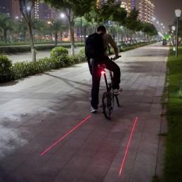 Sinalizador Laser com Led para Bicicleta