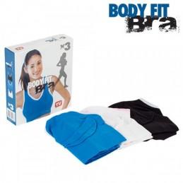 Pack com três Body Fit Bra, um dos melhores e mais confortável sutiãs desportivos no mercado.