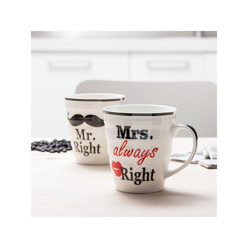 Canecas Mr. Right E Mrs. Always Right são um presente fantástico para o dia dos namorados, aniversários, casamentos ou qualquer ocasião especial