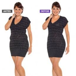 Corpete Modelador de Látex Deluxe ajuda a modelar e a realçar as curvas naturais do corpo, body shapper Prática e confortável de vestir
