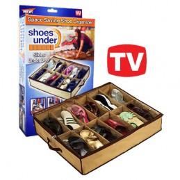 Um Organizador de Sapatos que permite organizar até 10 pares de sapatos, é ideal para aproveitar ao máximo o espaço da casa