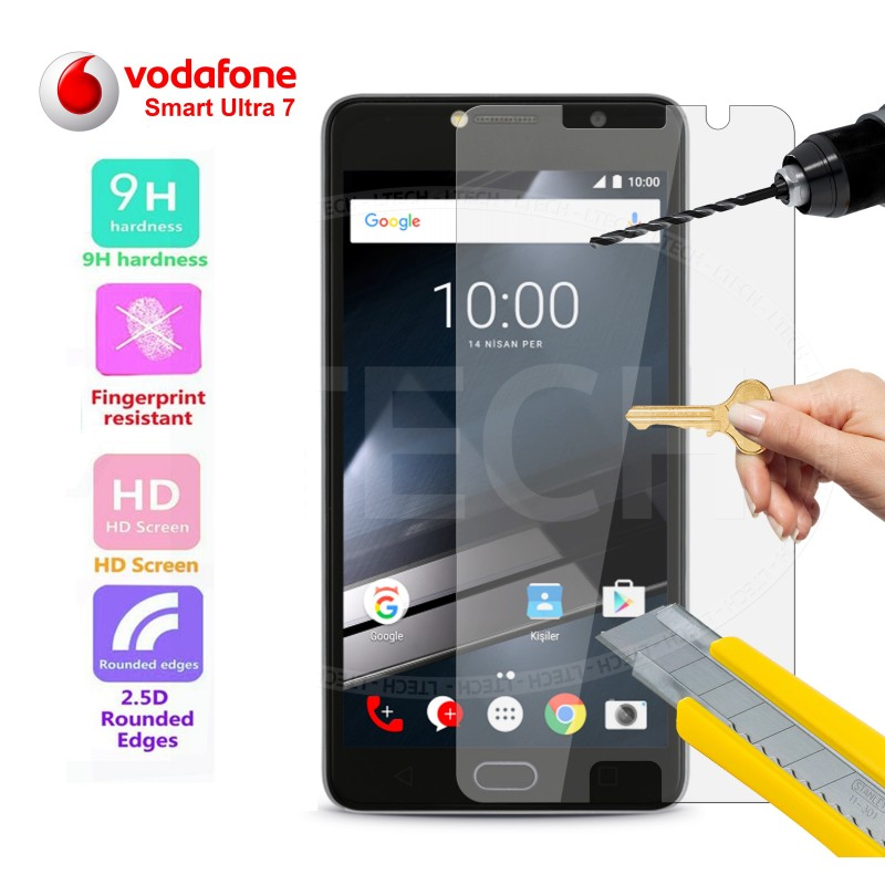 Esta Película Especial de Vidro Temperado Vodafone Smart ultra 7, para protecção do ecrã é feita de vidro temperado, 9x mais resistente que o vidro comum.