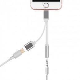 Cabo iPhone 2 em 1 - Carregador + Jack audio Oiça música e carregue o seu iphone ao mesmo tempo