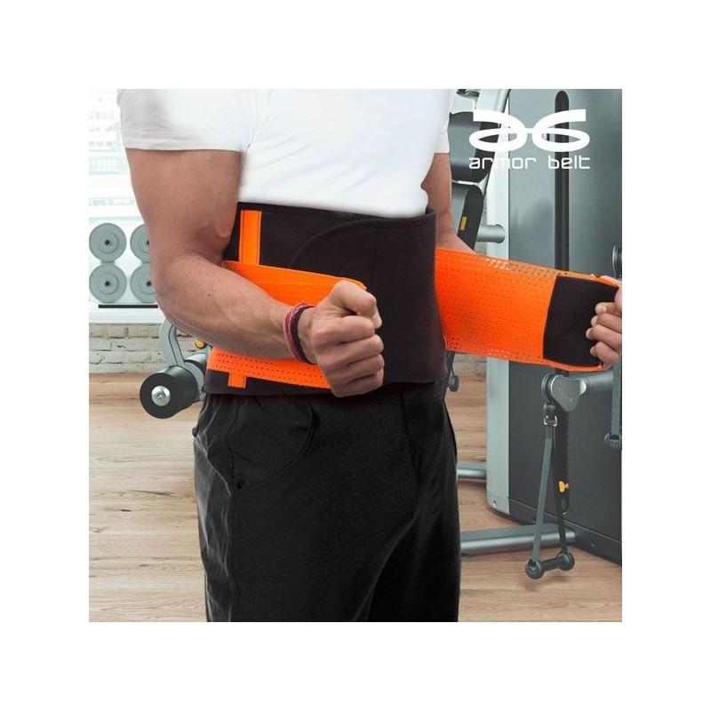 O Xtreme Armor Belt é uma cinta que ajuda a suar enquanto protege a sua coluna ao realizar actividades físicas, cómodo e prático e sem esforço.