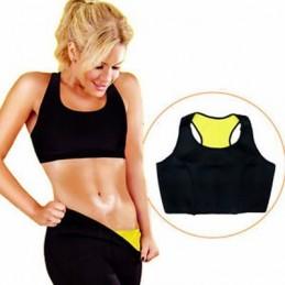 Top de Treino Efeito Sauna em neotex é ideal para ajudar a reduzir a cintura e a perder calorias, uma vez que contribui para o aquecimento corporal.