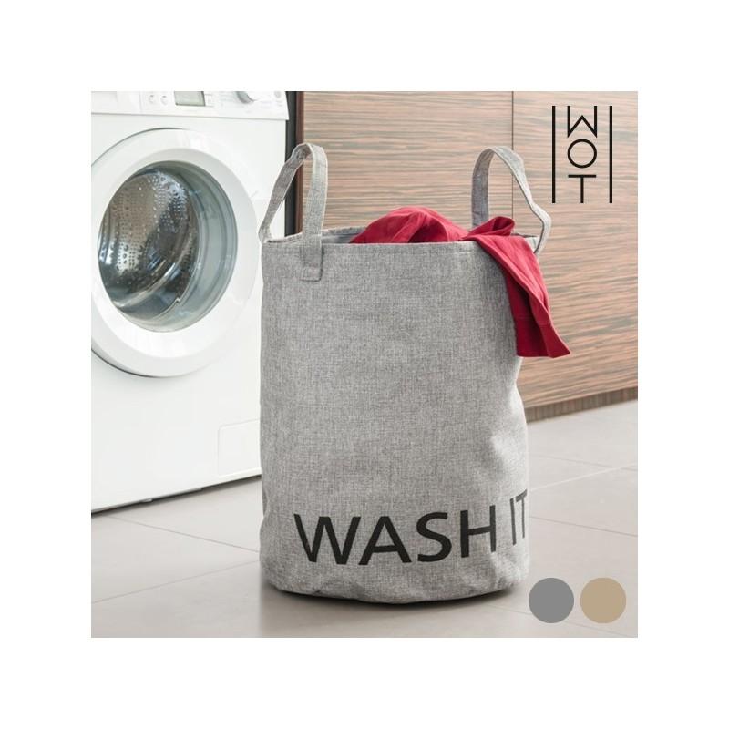 Cesto para roupa suja Wash it - 2 cores, design divertido e único. Prático e simples de utilizar e guardar, podendo ser facilmente dobrado.
