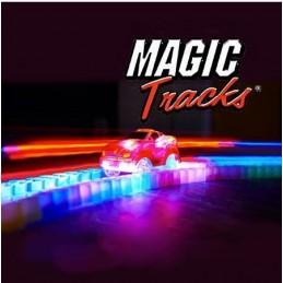 Pista Mágica Magic Tracks, Uma pista de corridas que torce e dobra, com 165 peças fáceis de montar e, acima de tudo, muito divertido!
