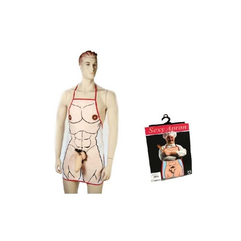 Este avental sexy homem com pénis garante o sucesso das suas festas domesticas ou despedidas de solteiro.