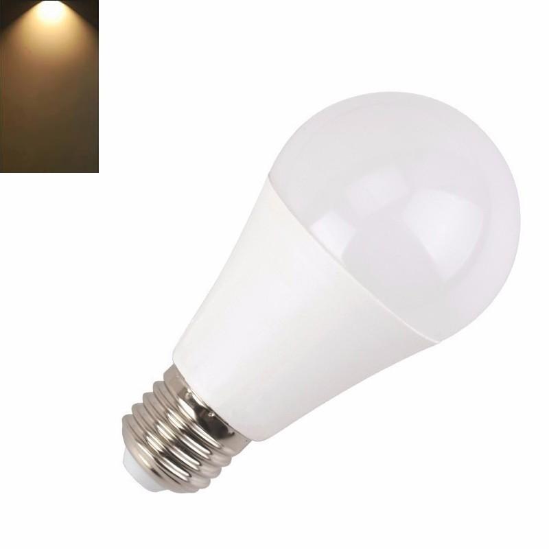 Lâmpada LED E27 12W 960 Lm Luz Quente - 3000K, Consomem até 85% menos energia para produzir a mesma luz do que uma lâmpada tradicional.