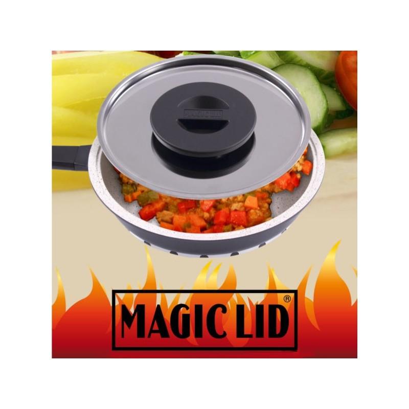 A Tampa Magica para Cozinhados permite cozinhar os alimentos sem necessidade de os descongelar, em apenas alguns minutos.
