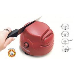 Afiador de facas elétrico de 60 W de potência com diferentes áreas de afiador para facas, tesouras e até mesmo chaves de fenda.