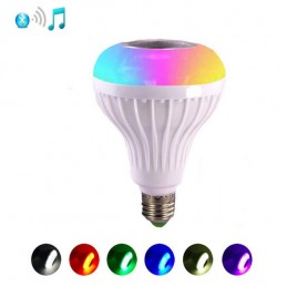 Um lampada para poder ouvir as suas musicas e ainda consegue mudar de cor.