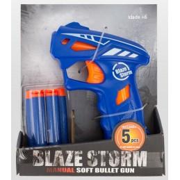 Pistola de Brincar - Blaze Storm Gun, uma arma de brincar com dardos macios e que seu filho vai adorar.