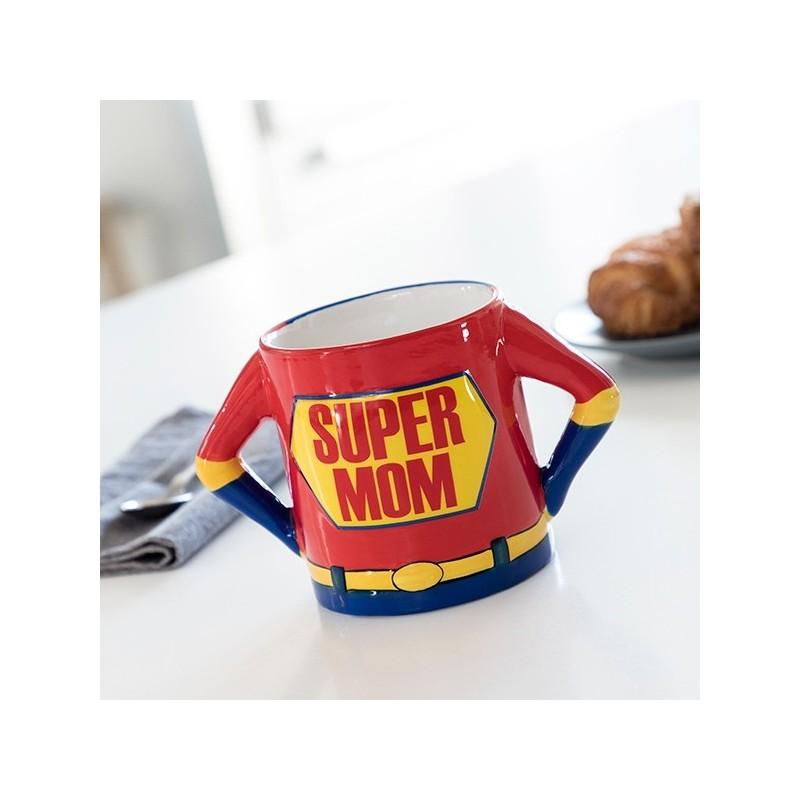 Caneca XL Super Mãe, Um presente original para oferecer a sua super mãe, Em cerâmica com capacidade de aprox. 500 ml