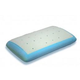 A almofada Viscoelastica, contem um nucleo 100 por cento visco Gel que se adapta a melhor posicao da sua cabeca