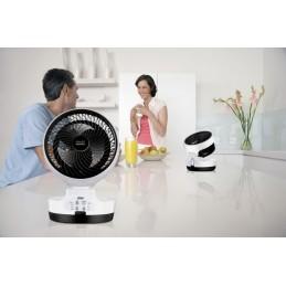 Ventilador Smart Comfort Portátil 360 é dobrável com comando e circulação de ar para uso no verão e inverno