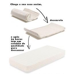 Colchão Viscoelástico 3D, anti-alérgico, ecológico, feito num material sensível à temperatura do corpo e que se adapta ao peso de cada pessoa