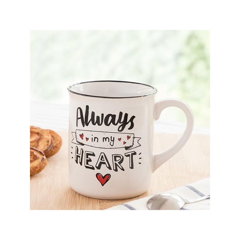 Caneca Always in my Heart é um presente fantástico para o dia dos namorados, aniversários, casamentos ou qualquer ocasião especial