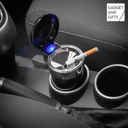cinzeiro com tampa e LED ideal para colocar no carro