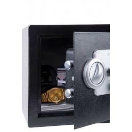 Cofre em aço eletrónico, onde você pode armazenar dinheiro, jóias e outros objetos de valor ou documentos.