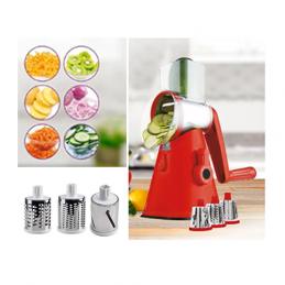 Com este Cortador Ralador de Legumes 3 em 1 esqueça os múltiplos aparelhos de cozinha e prepare as suas refeições com grande facilidade.