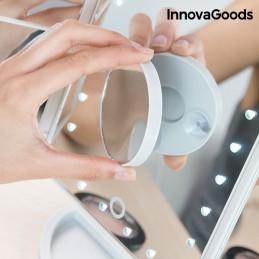 Espelho de Aumento LED 4 em 1, muito confortável e prático para maquilhagem, pentear, barbear etc, sempre com a máxima precisão.