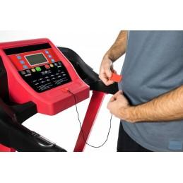 É uma passadeira de corrida eléctrica que lhe vai permitir fazer desporto - caminhar ou correr - sem sair de casa, quando lhe apetecer.