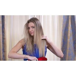 A forma rápida e simples de alisar o seu cabelo, de uma maneira prática, facilitando o pentear e evitando que o cabelo fique frisado.