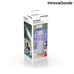 Uma original e versátil lâmpada antimosquitos com luz LED e função tripla: antimosquitos, lanterna e foco.