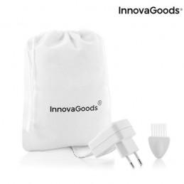 Um prático conjunto inovador de grande utilidade para depilar, limar durezas, limpar e massajar o rosto com facilidade e comodidade.
