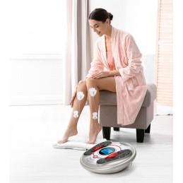 Disfrute deste magnífico massajador projetado para simular variadas técnicas massagem da maneira mais eficaz, atuando diretamente na base do pé.