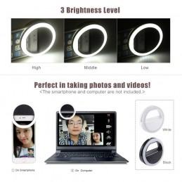 Com a luz suave emitida por 36 LEDs de alto brilho, obtenha fotos, selfies e vídeos de ótima qualidade, mesmo quando há pouca luz disponível.