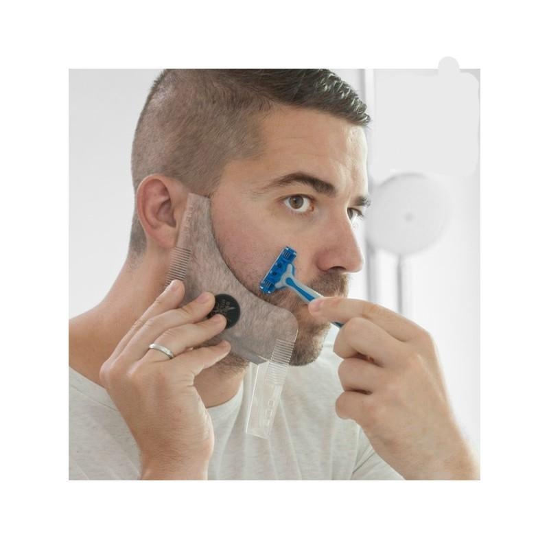Molde de Barba com Pentes para Barbear, Graças ao seu desenho exclusivo, adapta-se à forma do rosto, conseguindo uma barba simétrica e perfeita