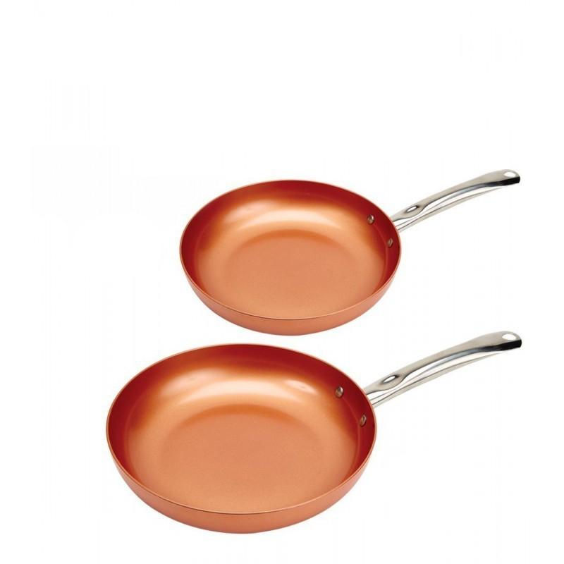 Confeccione pratos deliciosos com estas frigideiras com revestimento cerâmico cor cobre, Permite uma difusão de calor de forma rápida e uniforme.