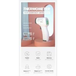 Termómetro infravermelho é especialmente projectado para tirar a temperatura do corpo de uma pessoa, independentemente da temperatura ambiente.