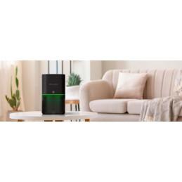 Um purificador e gerador de ozono capaz de absorver e decompor diferentes poluentes presentes no ar, partículas de pólen, poeira, cheiros ruins, etc ...