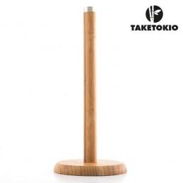 Um porta-rolos de papel de cozinha muito prático e fabricado em bambu que será um fantástico elemento decorativo na sua cozinha.