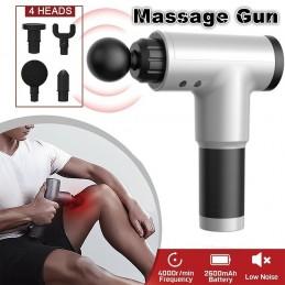 Recupere-se mais rápido com a pistola de massagem que lhe irá ajuda a aliviar a dor e rigidez muscular, ao mesmo tempo que melhora a sua amplitude de movimento.