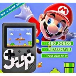 É hora de aproveitar esta fantástica consola retro portátil que inclui 400 jogos, ideal para as crianças que querem conhecer os jogos dos anos 80 e 90