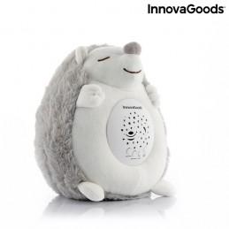 Um macio porco-espinho de peluche com luz e música, ideal para acompanhar as crianças na hora de dormir, ao ajudá-las a relaxar e a adormecer