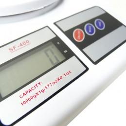 Esta balança de cozinha tem um sistema digital de peso muito preciso e pode pesar até 10 kg com exatidão em gramas, por isso adequa-se a toda a cozinha.