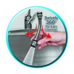 Faça uma melhor gestão da agua que gasta quando lava a loiça ou utiliza a sua torneira com o Adaptador de torneira rotativo 360