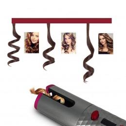Economize tempo sem ter que torcer manualmente o cabelo no modelador usando esta fantástica alternativa automática, que lhe fará caracóis perfeitos.