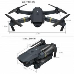 O E58 é o drone, com tudo o que você precisa para voar e viver as suas aventuras mais loucas e divertidas, de uma maneira prática e simples.