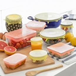 Um conjunto ideal para fechar e vedar hermeticamente uma diversidade de recipientes e conservar os alimentos da melhor forma.