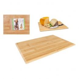 Proporcione os melhores momentos de degustação aos seus amigos, nas mais diversas ocasiões com esta tábua de bambu de excelência.