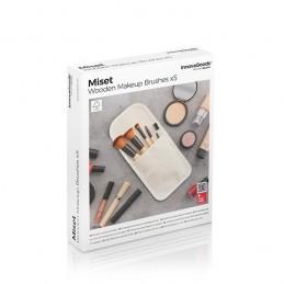 Um conjunto completo e elegante de 5 pinceis de maquilhagem que cobrem todas as funções básicas para um acabamento perfeito.